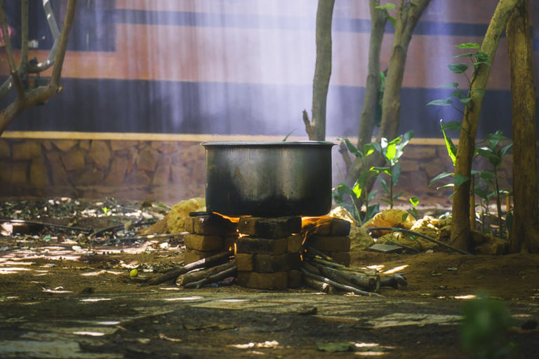 wood fire cooking